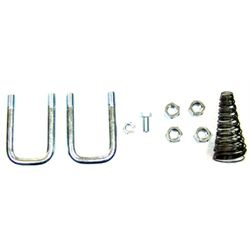 Gooseneck Replacement Safety Chain U-Bolt Kit for B&W TURNOVER BALL