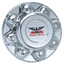 Hub Cover Chrome Plated - Bolt Pattern 8 on 6-1/2""