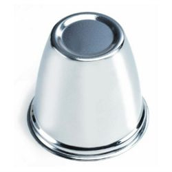 """Hub Cover Chrome Plated - Bolt Pattern 5 on 4.5 - 3.18"""" OD"""
