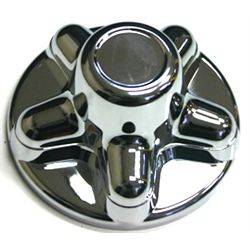 Hub Cover Chrome Plated - Bolt Pattern 5 on 4-1/2""