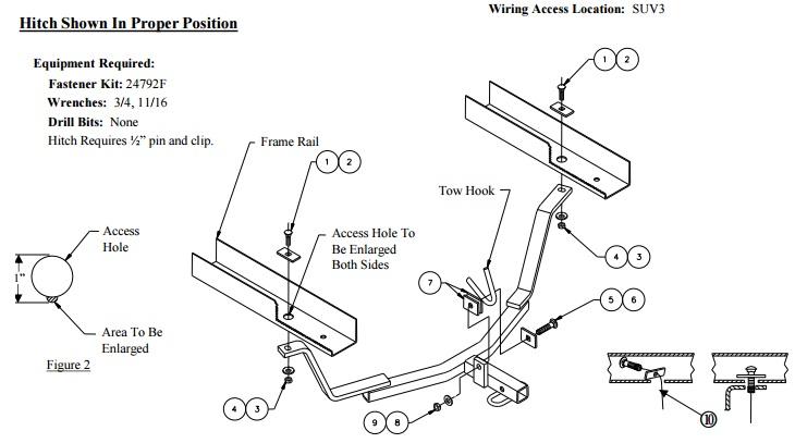 60869 installation instruction hitch image figures 1  u0026 2