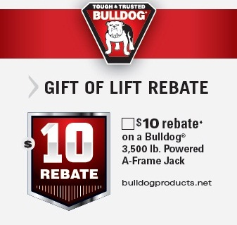 Bulldog Trailer Jacks Rebate