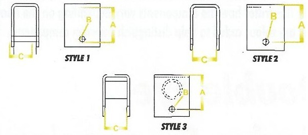 Spring Hanger Style and Measurements