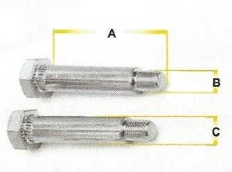 Trailer Suspension Bolts Length, Diameter and Thread Size
