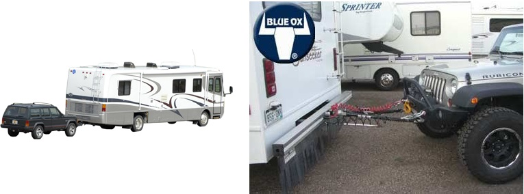 RV Towing - Tow Bar and Baseplate Set Up