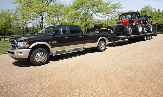 2013 Dodge Ram Towing Trailer