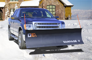 RAMPAGE II SNOWPLOW ON TRUCK
